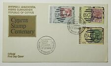 1980 FDC Republic of Cyprus Stamp Centenary Official FDC Kibris SG 536-39 1980