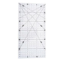 1Pc patchwork ruler quilting tools acrylic material transparent ruler scale YK