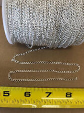 All Scales SILVER Metal Hobby Chain for LGB, USA, Loads, Cranes,By The Foot