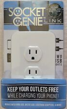 Socket Genie Link Two Usb Ports Wall Charger Standard Outlet