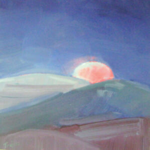 TRUJILLO  California Impressionist Listed Moon Art contemporary oil painting