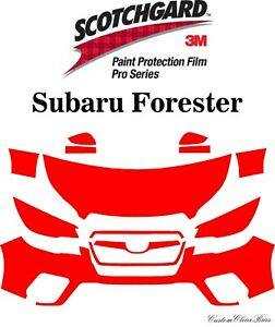 3M Scotchgard Paint Protection Film Pro Series Fits 2019 2020 Subaru Forester