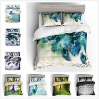 3D Painting Peacock Peafowl Feather Bedding Duvet Cover Quilt Cover Pillowcase