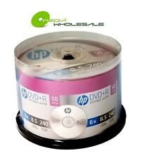 50 HP 8X Blank DVD+R DL Dual Double Layer 8.5GB Logo Branded Media Disc  REAL HP