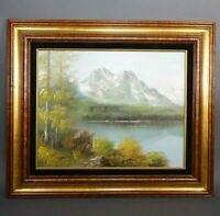 "Original Oil on Canvas Landscape Framed 28"" x 24"" Artist Signed - DAVID"