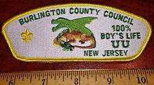 Burlington County Council SA-28 100% Boy's Life CSP - MINT