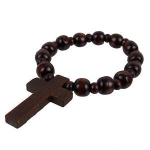 Asita Unisex Rosewood Spiritual Bracelet with Dark Wooden Cross