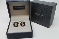 MONTEGRAPPA CASH CUFFLINKS ROSE GOLD BLACK IP