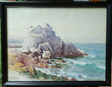 "REDUCED!  William C. Adam  ""Lover's Point Pacific Grove, CA"" WC Early CA Listed"