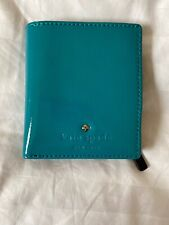 New Kate Spade Cobble Hill Small Stacy Patent Leather Wallet Turquoise Orig $98