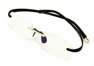 Rimless Lightweight Rectangle Memory Flex Frame Clear Lens eye glasses Optical