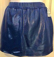 Gk Elite Cheer Skirt Adult Medium Royal Hologram School Fit Am Nwt
