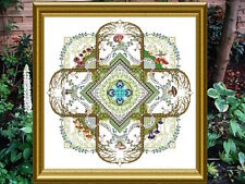 10% Off Chatelaine Counted X-stitch Chart - The Mushroom & Fern Mandala