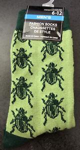 Men's Fashion Novelty Casual Dress Bug Socks Size 6-12