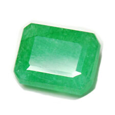 Certified 5.25 Ratti Natural Emerald Panna Stone Emerald Cut Loose Gemstone