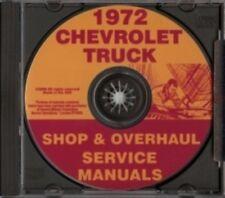 CHEVROLET 1972 Pickup, Van, Blazer, Suburban & Truck Shop Manual CD