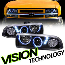 Black Halo Rings Led Projector Headlights Lamps K2 98-04 Chevy S10 Blazer/Pickup