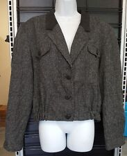 Pendleton Wool Jacket Womens Size 14 Black & White Dots Made in USA KNOCKABOUTS