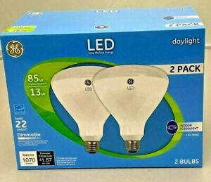 GENERAL ELECTRIC 2 PACK LED INDOOR FLOODLIGHT 13W BR40 DAYLIGHT  NEW!