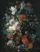Jan Van Huysum Vase Of Flowers Giclee Art Paper Print Poster Reproduction