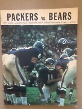 11/3/1968 Green Bay Packers Packers Program vs Chicago Bears.  Sayers 205 yds.