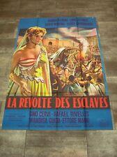 LA REVOLTE DES ESCLAVES Gainsbourg 1960 Affiche Originale 120x160 Vintage Poster