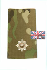 PAIR Multicam Irish Guards 2nd Lieutenant RANK SLIDES
