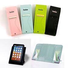 Free Portable Folding Book Stand Cookbook reading Holder Tablet Pink Blue Black