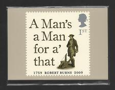 GB 2009 ROBERT BURNS MINT PHQ STAMP CARDS