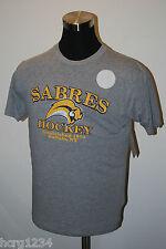 BUFFALO SABRES  - NHL LICENSED HOCKEY T-SHIRT -GRAY - LARGE