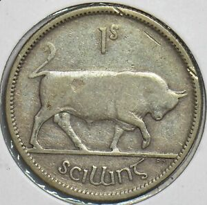 Ireland 1930 Shilling Bull animal 152912 combine shipping