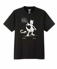 Daniel Arsham X Pokemon X Uniqlo Crystal Mewtwo T-Shirt Black Size SMALL S