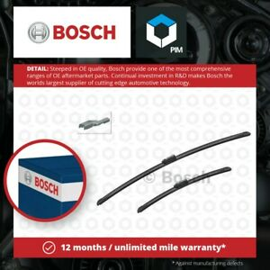 2x Wiper Blades (Pair) Flat / Aero type fits TESLA MODEL S 5YJS Front 2012 on