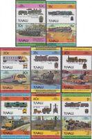 Tuvalu 228-242 Paare (kompl.Ausg.) postfrisch 1984 Lokomotiven