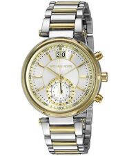 Michael Kors Women's Chronograph Sawyer Two-Tone Watch 39mm MK6225