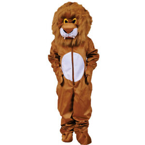 Scary Plush Lion Hairy Head Costume By Dress up America for Kids and Adults