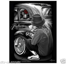 DGA Reflections David Gonzales Lowrider Chicano Artwork Homies Poster 18 x 24