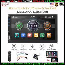 7''2 Din Car Radio Carplay Siri Android+Camera BT FM MP5 Player iOS Mirror Link