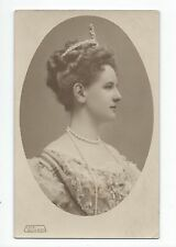 BP173 Carte Photo vintage card RPPC Femme bijoux couronne impératrice ?