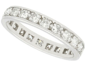 1950s French 0.75ct Diamond and Platinum Full Eternity Ring