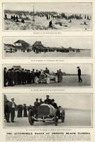 Automobile Races Ormond Beach W.K. Vanderbilt Vintage Mercedes 1904 old print
