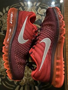 "NEW Nike Air Max 2017 ""Night Maroon"" Mens Size 10.5 849559-601 NWOB GymRed-White"