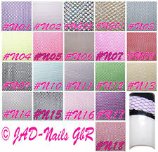 10 x Nail-Art Netz Nailart-Tüll 5 x 20 cm ° Nagelnetz Nailart MIX Set