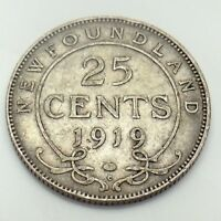 1919 Canada 25 Twenty Five Cents Quarter Canadian George V Circulated Coin G121