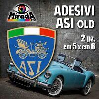 Adesivi / Stickers ASI OLD auto ruote storiche rally legend epoca OFFERTA! 5X6