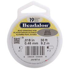 "Beadalon Stringing Wire 19-Strand .018"" X30'-Bright"