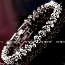 Sale Xmas Gifts for Women Mum Silver Tennis Bracelet Present for Her Girls T7