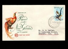 Papua & New Guinea Port Moresby 1st Day 1965 Birds 2 Pounds Cover 5l