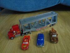 Disney Pixar Cars Mack Truck Car Transporter Hauler & Diecast Cars