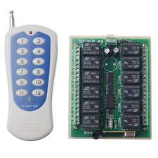 12 CH 10 A 315 MHz RF Sans Fil Télécommande Interrupteur émetteur + récepteur DC24V